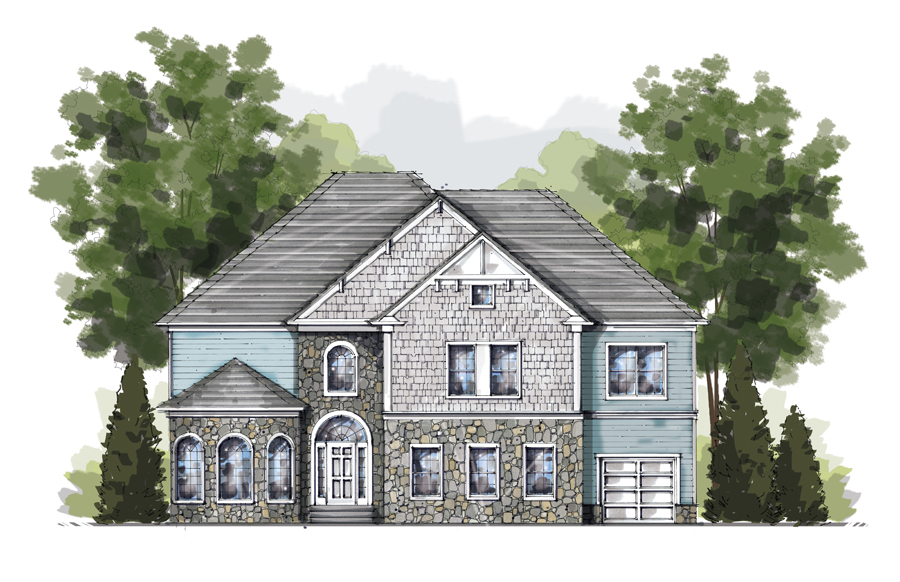 Front Elevation Rendering : I rendering architectural perspective sign