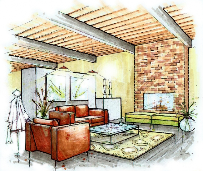 1000 images about architectural renderings on pinterest architecture sketches residential for Architectural interior rendering