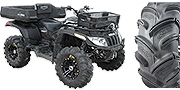 "Pictured are the 27"" Gators with black SS212 wheels on a stock Arctic Cat 650 H1"