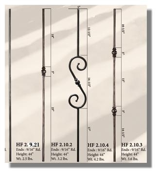 Round Sphere Iron Balusters