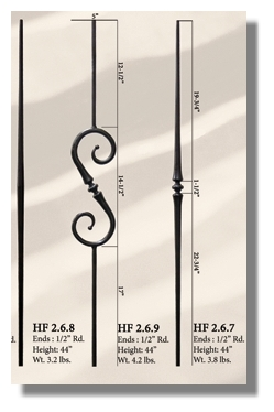 Toothpick iron balusters