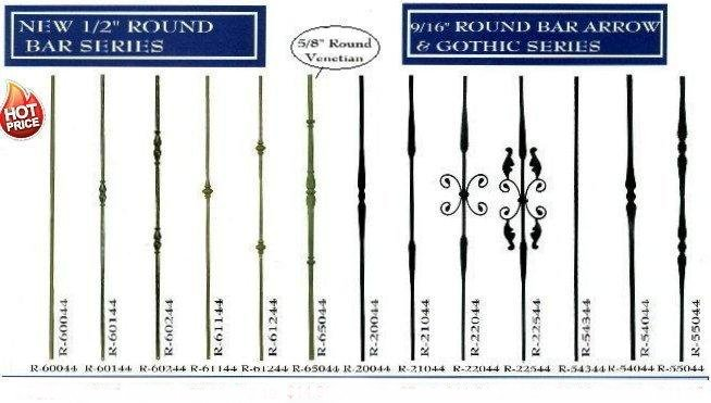 ROUND BAR IRON STAIR BALUSTERS