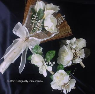 wedding broom bouquets broom boutonnieres and mothers corsages speak