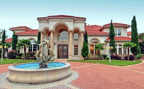 The ultimate mediterranean home estate for sale on acreage in Plano Texas!