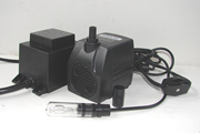 Fountain Pro WT-170 Pump with 10W Light | Pump with light and on off switch