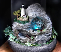 Light House Fountain | Lighted fountain with water pools