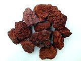 Small dark red lava rock, landscape lava rock, fountain accent rocks